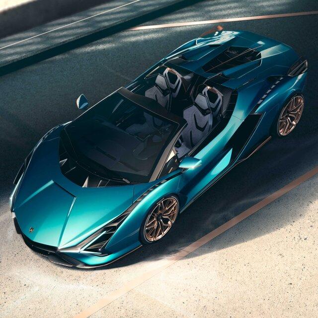 ランボルギーニがハイブリッドスーパースポーツモデル「シアン ロードスター」を世界初公開|Lamborghini