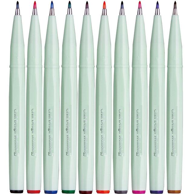 筆タッチサインペンに10色セットが誕生  Craft Design Technology