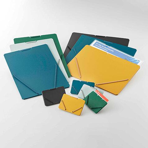 収納量に応じてゴムが伸縮。最適な厚さになるドキュメント/カードホルダー |KING JIM