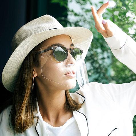 熱中症対策にも。メガネに装着して飛沫拡散を防止する「グラスマスク」|KAGOMEDIA