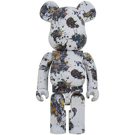ジャクソン・ポロック作品をウォータープリントで再現! BE@RBRICK Jackson Pollock Studio (SPLASH) 100% & 400% / 1000%|MEDICOM TOY