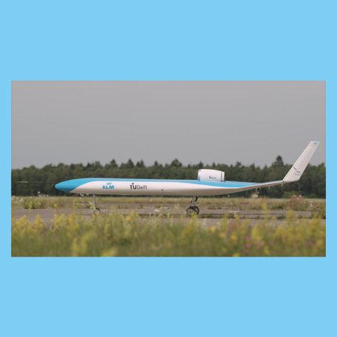 V型次世代飛行機のプロトタイプ、空を飛ぶ|KLM Royal Dutch AirLines