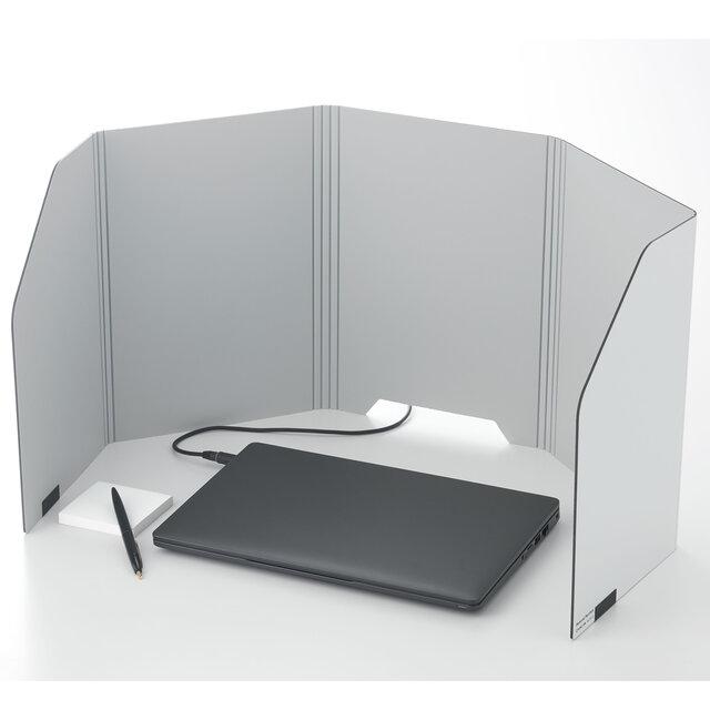 テレワーク時の集中スペースが手軽に作れる卓上パーティション  | KING JIM