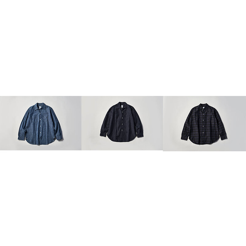 ポストオーバーオールズからドレスとワークのミックス感を具現したシャツが登場|POST O'ALLS