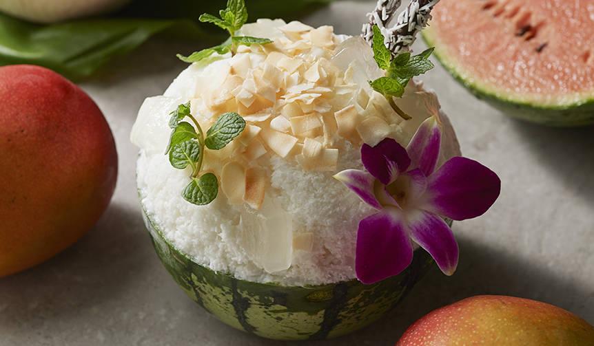 Tropical とLuxuriousが同時進行!「すいかとココナッツのかき氷」|Shangri-La Hotel, Tokyo