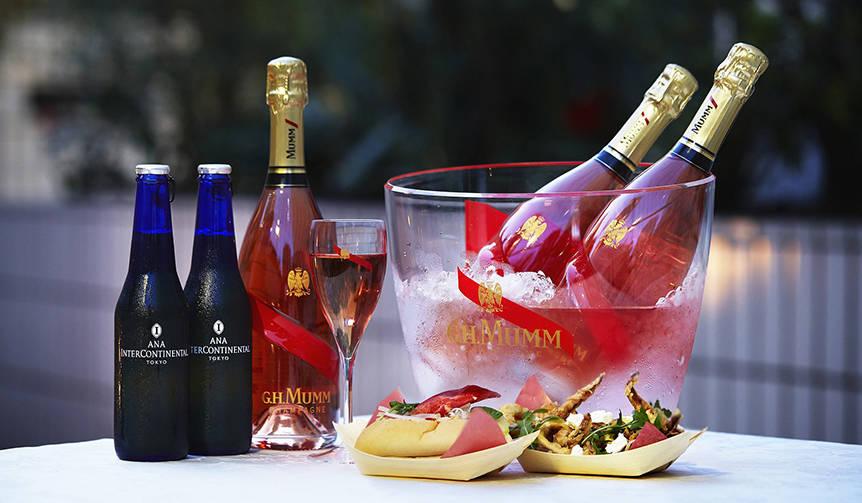 夏の宵に最適のキリリとしたロゼシャンパーニュをオープンテラスで堪能|MAISON MUMM