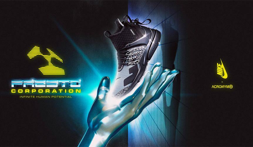 ナイキ×アクロニウム、「エア プレスト MID」に大胆な蛍光カラーを採用|NIKE