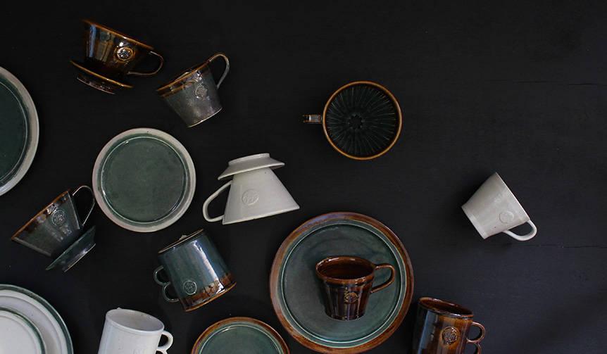 ドリップコーヒーをテーマにした陶器シリーズ|MISHIM POTTERY CREATION