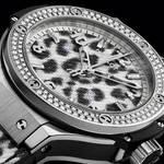 レオパード柄×ダイヤモンドの「ビッグ・バン スノーレオパード ダイヤモンド」|HUBLOT