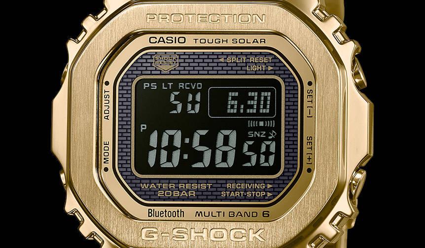 大人のフルメタルG-SHOCK「GMW-B5000」に、反転液晶の2モデルが登場|CASIO