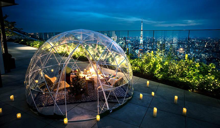 アンダーズ 東京のルーフトップ テラスに「星降る夜のクリスマスイグルー」|EAT