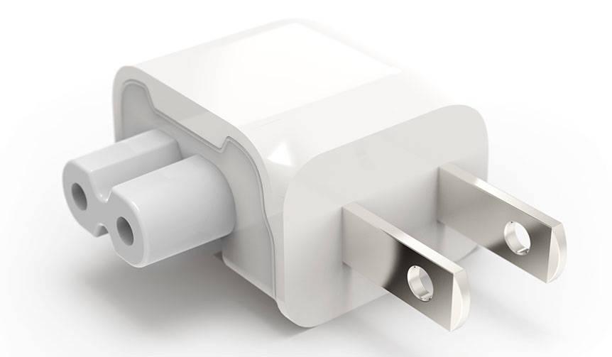 狭いスペースでもApple社の純正電源アダプタが使用可能に|Ten One Design