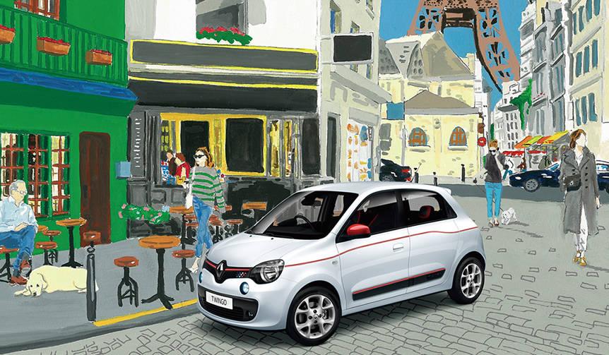 カラーコーディネートを楽しむトゥインゴの限定車|Renault