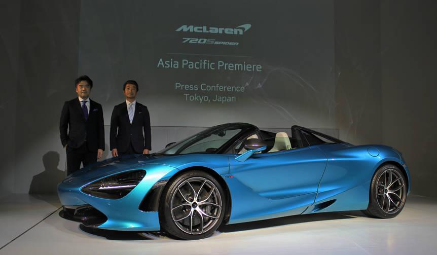 マクラーレン720Sスパイダー、早くも日本上陸|McLaren