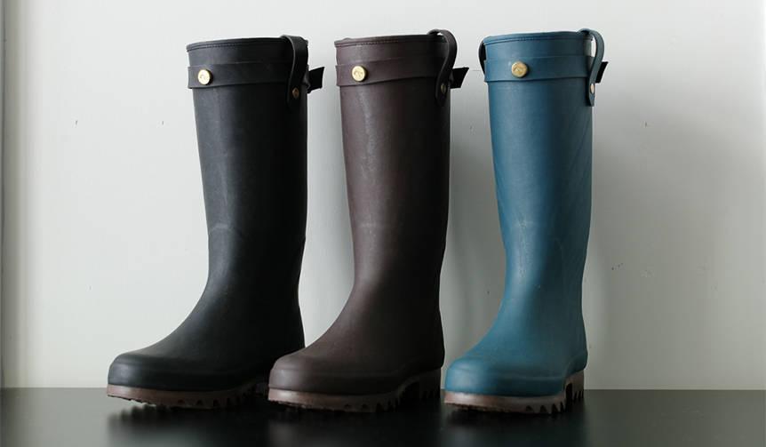生産は小樽市の老舗ゴム長靴メーカーが担当。現代的なラバーブーツ|Daiichi Rubber