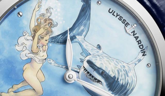 センシュアルなラブストーリーが描かれたハンドペイントウオッチ|ULYSSE NARDIN