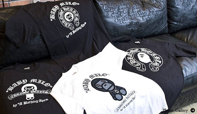 CHROME HEARTS|「A BATHING APE® × CHROME HEARTS T-Shirts」発売
