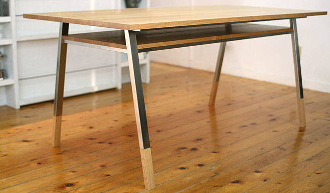 PRODUCTS|棚板付きのダイニングテーブル「Norito Table」