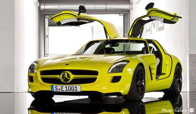 Mercedes-Benz SLS AMG E-Cell|電気で走るスーパースポーツが誕生間近!
