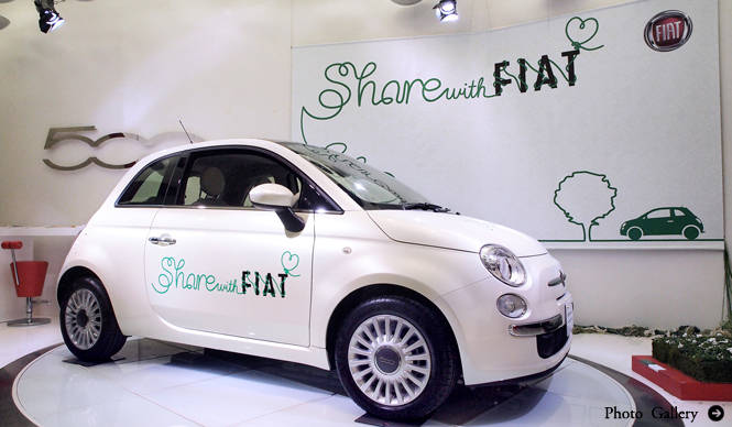 FIAT フィアット Share with Fiat始動