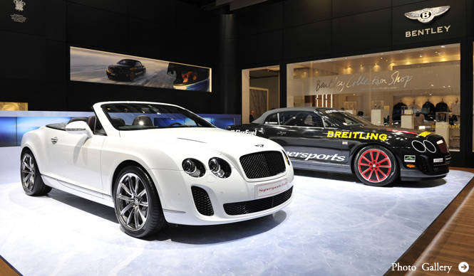 "BENTLEY SUPERSPORTS ""ICE SPEED RECORD"" CONVERTIBLE ジュネーブでデビュー"