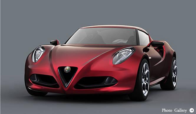 Alfa Romeo 4C Concept|アルファロメオ 4C コンセプト コンパクトスポーツカーがプレミア!