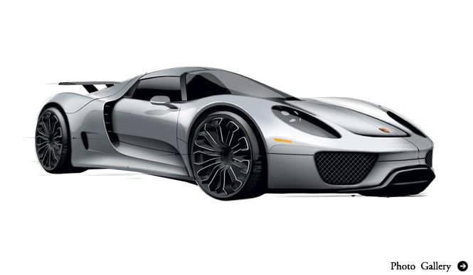 Porsche 918 Spyder Concept ポルシェ 918 スパイダー コンセプトの価格を公表