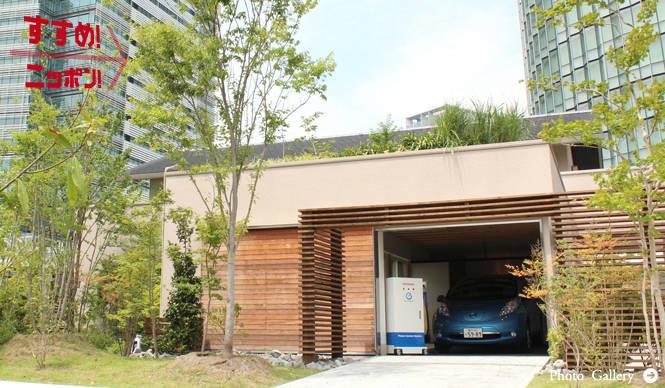日産 リーフ NISSAN LEAF 一般住宅へ電力供給するシステムを公開