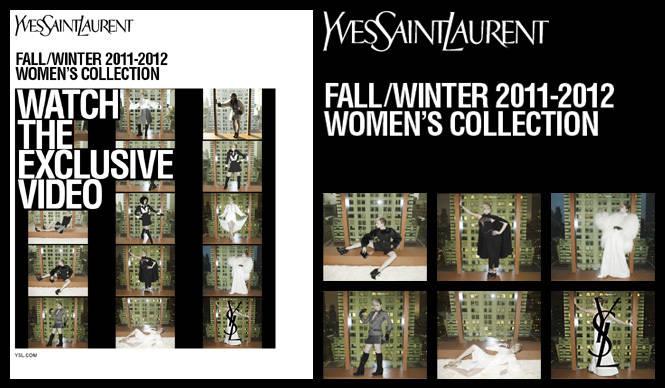 YVES SAINT LAURENT|2011-12年秋冬キャンペーンのショートムービー