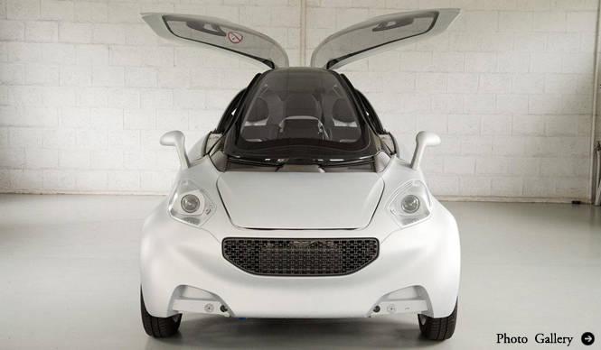 PSA Peugeot Citroen VELV concept ADEME主催のフォーラムにてモビリティを提示