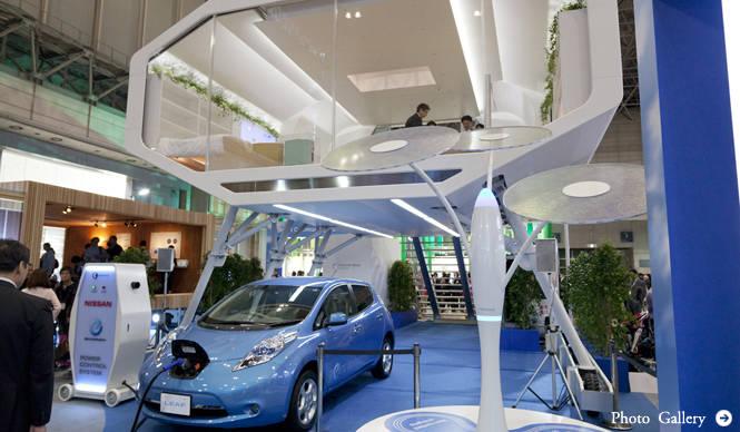 CEATEC JAPAN 2011 日産が考えるスマートハウスのありかた
