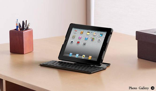Logicool|iPad2専用 折りたたみ式ワイヤレスキーボード