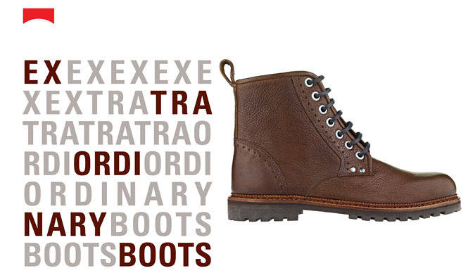 CAMPER ブーツを楽しむ「Extraordinary Boots」プロモーション