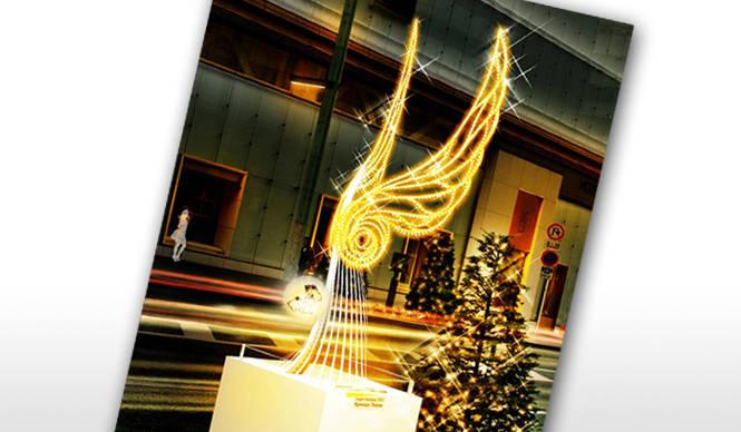 EVENT|東北の子どもたちの絵と一体となった光のオブジェ「希望の翼」が銀座に登場