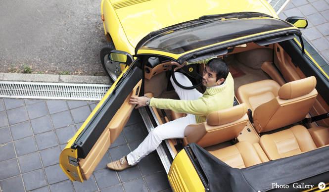あなたのクルマ 見せてください 第2回 木村英智 × フェラーリ モンディアルTカブリオレ