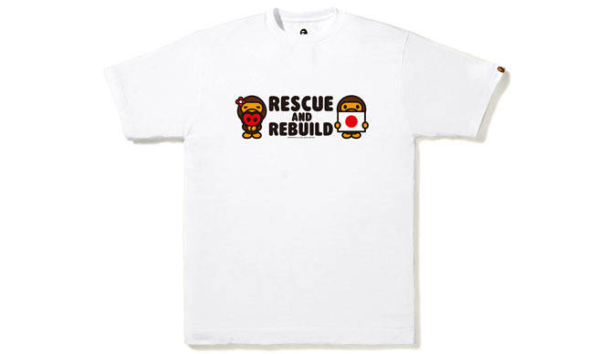 A BATHING APE®|東日本大震災復興支援Tシャツ第3弾発売