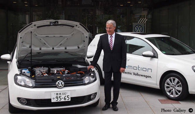ゴルフ blue-e-motion、来日|Volkswagen