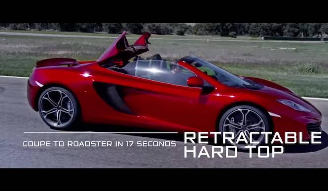 マクラーレンMP4-12Cスパイダーの動画を初公開|McLaren
