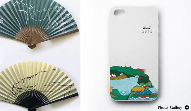 HOWLT|BARNEYS NEW YORKコラボ「扇子&iPhoneケース」