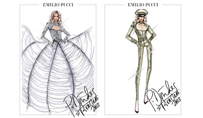 EMILIO PUCCI エミリオ・プッチが、歌手リタ・オラのツアー衣装を制作