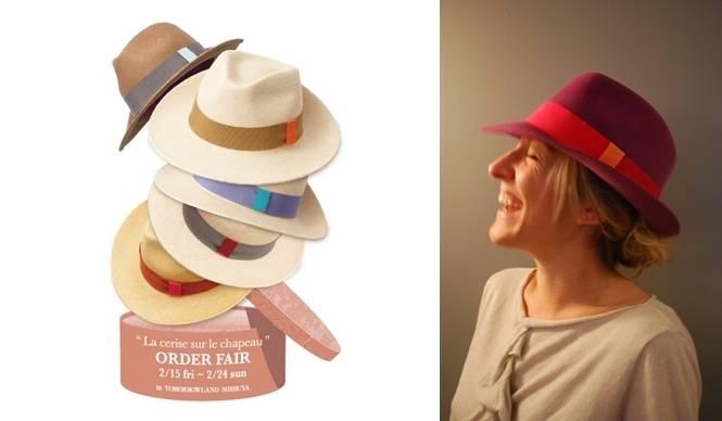 La cerise sur le chapeau|パリの人気帽子ブランドがセミオーダーイベントを開催
