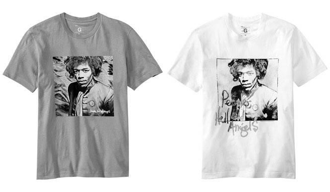 GAP|ジミヘン生誕70周年記念「Gap×Jimi Hendrix」コラボレーションTシャツ発売