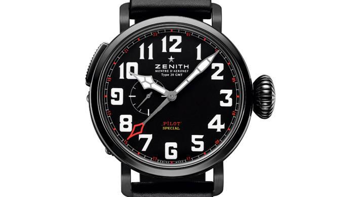 ZENITH|ブラックカラーの限定パイロットウォッチ