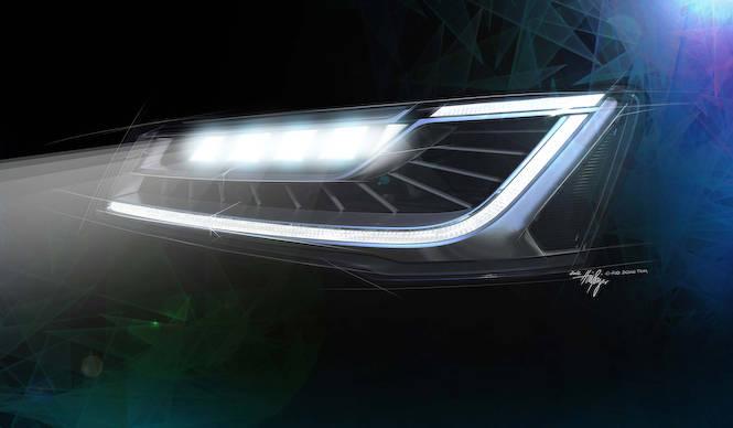 次期 A8のヘッドライトを発表|Audi