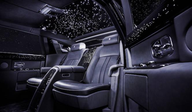 ダイヤをちりばめた豪華絢爛なファントム Rolls-Royce