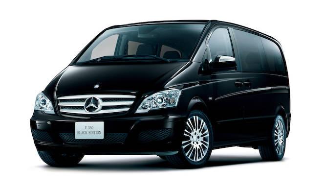 精悍なエクステリアのVクラス特別仕様車|Mercedes-Benz