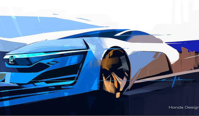 ホンダのあたらしい燃料電気自動車、LAで発表|Honda