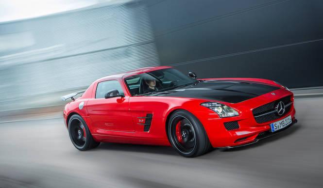ラストシーンを迎えたSLS AMG Mercedes-Benz