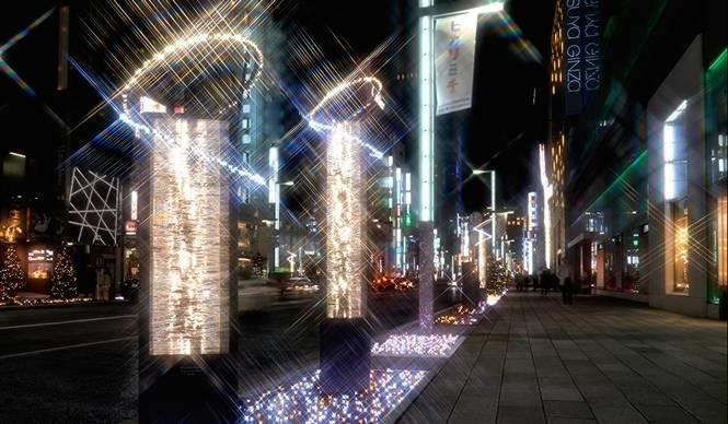 EVENT|銀座の街を彩るシャンパンゴールドのイルミネーション