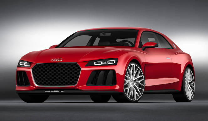 最新技術のヘッドライトを得たスポーツクワトロ|Audi